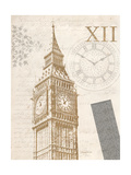 The Details of Big Ben Premium Giclee Print by Morgan Yamada
