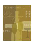 Mid Century Wine 4 Premium Giclee Print by Lola Bryant