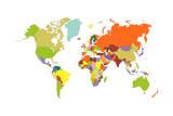 Carte du monde Toile tendue sur châssis par  tony4urban