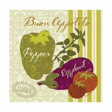 Modern Veggies Premium Giclee Print by Lola Bryant