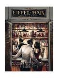 Eiffel Bar Premium Giclée-tryk af Brent Heighton