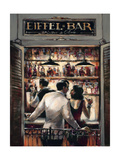 Eiffel Bar Premium Giclee Print by Brent Heighton