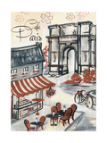 Paris Whimsy 2 Premium Giclee Print by Edith Lentz