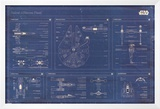 Star Wars - Rebel Alliance Fleet blueprint Prints