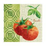 Fresh Linen Tomato Premium Giclee Print by Lola Bryant