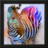 Zebra Dreams Framed Giclee Print by Galen Hazelhofer