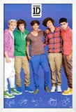One Direction Signatures Blue Poster