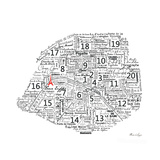 As the French Say…Map Premium Giclee Print by Marion De Lauzun