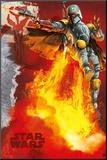 Star Wars - Boba Fett blast Mounted Print