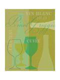 Mid Century Wine 3 Premium Giclee Print by Lola Bryant
