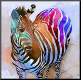 Zebra Dreams Mounted Print by Galen Hazelhofer