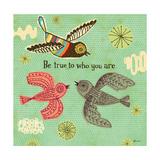Birdie Bliss 3 Premium Giclee Print by Richard Faust