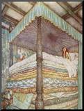 The Princess and the Pea Mounted Photo by Edmund Dulac