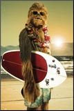 Star Wars-Surfs Up Mounted Print
