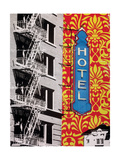 Urban Collage Hotel Premium Giclee Print by Deanna Fainelli