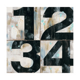 Industrial Chic Numbers Premium Giclee Print by Arnie Fisk