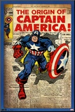 Captain America - Comic Cover Mounted Print
