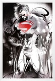 Man of Steel - Superman Red Logo Movie Poster Posters