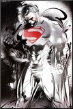 Man of Steel - Superman Red Logo Movie Poster Mounted Print