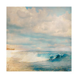 Golden Summer Beach Premium Giclee Print by Matina Theodosiou