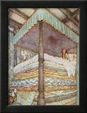The Princess and the Pea Framed Photographic Print by Edmund Dulac