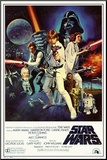 Star Wars - Episode IV New Hope - Classic Movie Poster Mounted Print