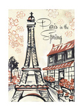Paris Whimsy 1 Premium Giclee Print by Edith Lentz