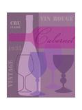 Mid Century Wine 1 Premium Giclee Print by Lola Bryant