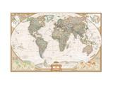 French Executive World Map Lærredstryk på blindramme af National Geographic Maps