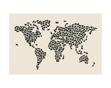 Cats Map of the World Map Płótno naciągnięte na blejtram - reprodukcja autor Michael Tompsett