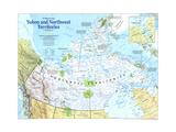Yukon And Northwest Territories Map 1997 Lærredstryk på blindramme af National Geographic Maps