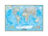 French Classic World Map Płótno naciągnięte na blejtram - reprodukcja autor National Geographic Maps
