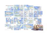 1981 Tourist Islands of the West Indies Map Lærredstryk på blindramme af National Geographic Maps