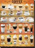 Coffee Collage Stretched Canvas Print
