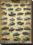 Tanks of WWII Stretched Canvas Print