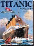 Titanic White Star Line Stretched Canvas Print