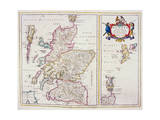 Map of Scotland, c.1700 Stretched Canvas Print by R. Gordon