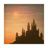 Fantasy Vector Castle Moonlight Sky Print by  kostins
