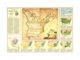 1987 Territorial Growth of the United States Map Lærredstryk på blindramme af National Geographic Maps