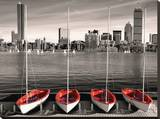 Boston Marina Stretched Canvas Print