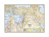 2012 Lands of the Bible 1967 Map Lærredstryk på blindramme af National Geographic Maps