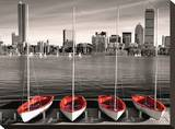 Boston Marina Stretched Canvas Print