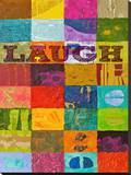 Laugh Stretched Canvas Print