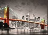 New York City Brooklyn Bridge Stretched Canvas Print
