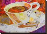 Cafe Au Lait Stretched Canvas Print