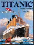 Titanic White Star Line Stretched Canvas Print