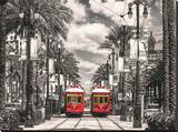 New Orleans Streetcars Stretched Canvas Print
