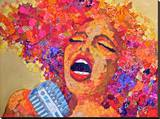 Soul Singer Stretched Canvas Print