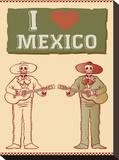 I Love Mexico Stretched Canvas Print