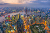 China, Shanghai, View over Pudong Financial District, Huangpu River Beyond Photographic Print by Alan Copson